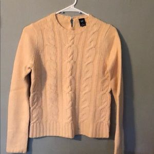 Wool/Angora/ Cashmere blend cable knit sweater